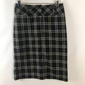 IQ & Co. Womens High Waisted Plaid Pencil Skirt
